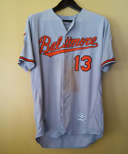 Photo of Manny Machado 50th Anniversary Game-Used Patch Jersey