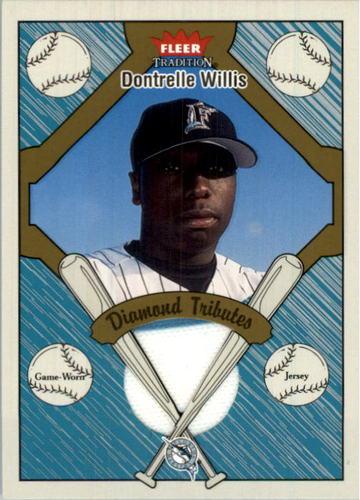 Photo of 2004 Fleer Tradition Diamond Tributes Game Jersey #DW Dontrelle Willis