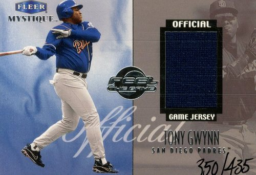 Photo of 1999 Fleer Mystique Feel the Game #4 T.Gwynn Jersey/435