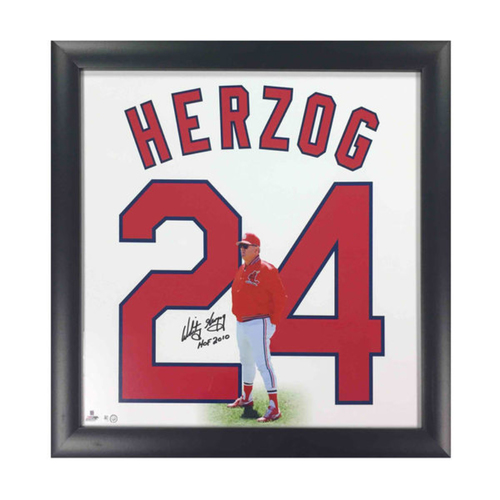 Photo of Cardinals Authentics: Whitey Herzog Autographed Retired Numbers Collection