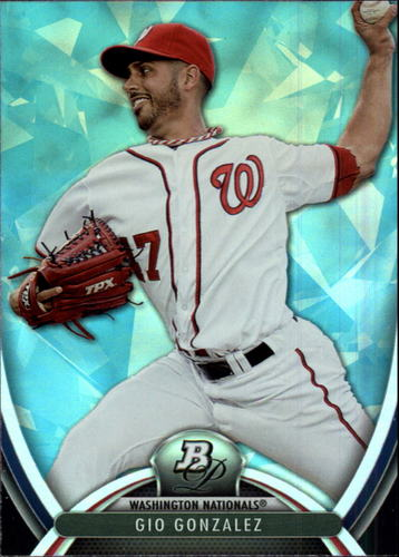 Photo of 2013 Bowman Platinum Sapphire #41 Gio Gonzalez -- Nationals post-season