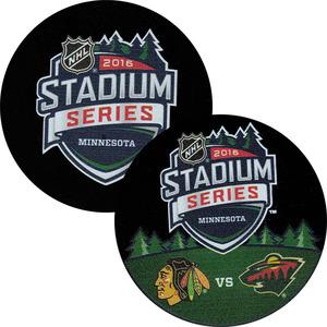 2016 NHL Stadium Series Puck Lot (Colorado Avalanche, Detroit Red Wings, Chicago Blackhawks, Minnesota Wild)