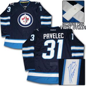 Ondrej Pavelec Autographed Winnipeg Jets Authentic Pro Jersey