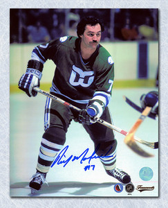 Rick Macleish Hartford Whalers Autographed 8x10 Photo *Philadelphia Flyers*