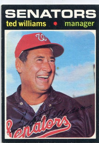 Photo of 1971 Topps #380 Ted Williams Senators manager