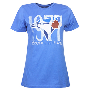 Toronto Blue Jays Women's Year Watermark T-Shirt by Majestic Threads