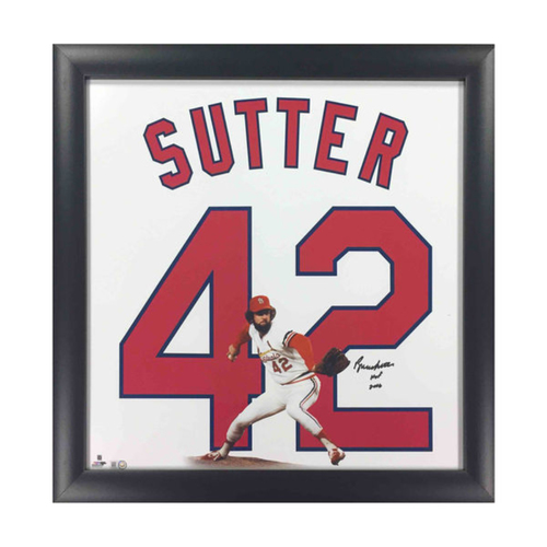 Cardinals Authentics: Bruce Sutter Autographed Retired Numbers Collection