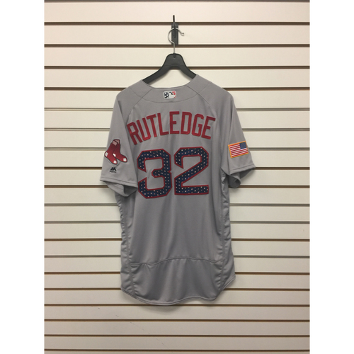 Photo of Josh Rutledge Team-Issued 2017 Stars and Stripes Jersey