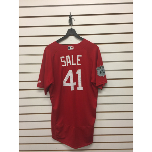 Photo of Chris Sale Team-Issued 2017 Spring Training Jersey