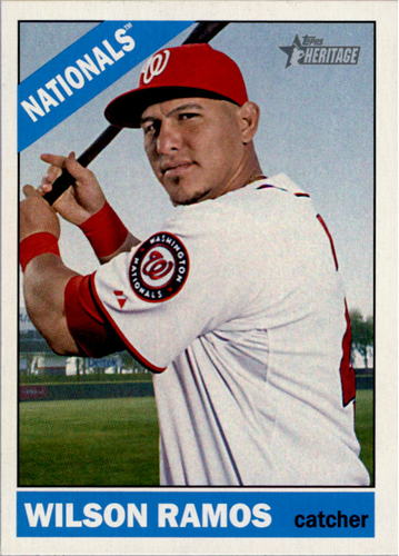 Photo of 2015 Topps Heritage #385 Wilson Ramos