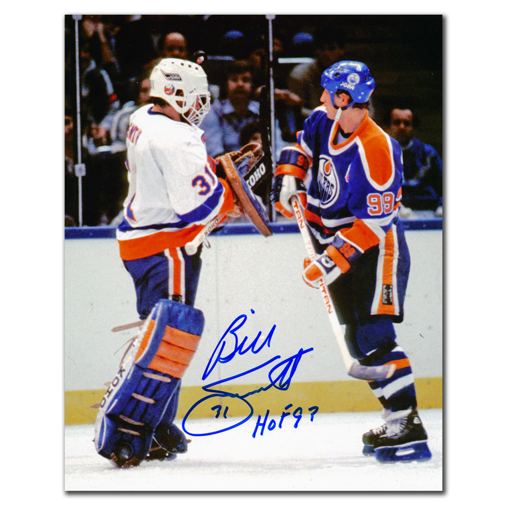 Billy Smith New York Islanders vs. Gretzky HOF Autographed 8x10