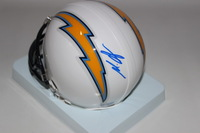 NFL - CHARGERS MELVIN GORDON SIGNED CHARGERS MINI HELMET
