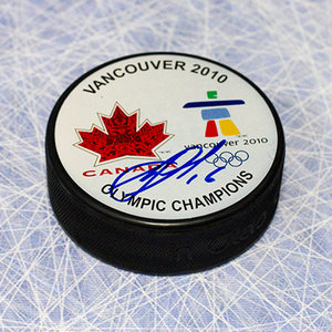 Jonathan Toews Team Canada Autographed Olympic Gold Puck *Chicago Blackhawks*