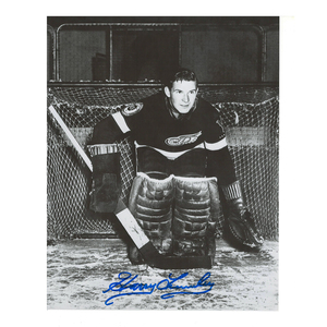 HARRY LUMLEY Signed Vintage Detroit Red Wings 8 X 10 Photo - 70013