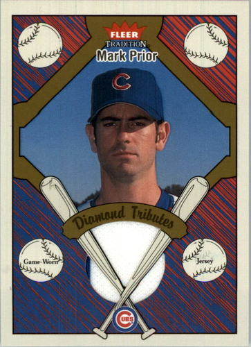 Photo of 2004 Fleer Tradition Diamond Tributes Game Jersey #MP2 Mark Prior