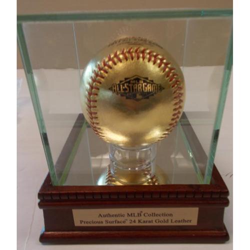 Photo of 24 Karat Gold Leather Baseball: 2011 MLB All-Star Game Logo