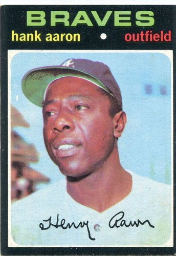 Photo of 1971 Topps #400 Hank Aaron -- Braves Hall of Famer