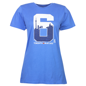 Toronto Blue Jays Women's Skyline 6 T-Shirt by Majestic Threads