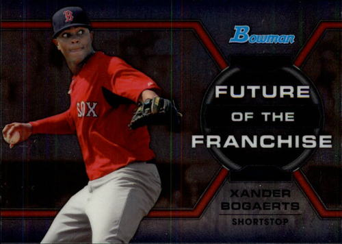 Photo of 2013 Bowman Draft Future of the Franchise #XB Xander Bogaerts -- Red Sox post-season