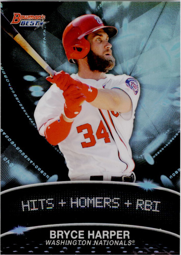 Photo of 2016 Bowman's Best Stat Lines #SLBH Bryce Harper -- Nationals post-season
