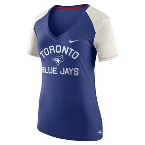 Toronto Blue Jays Women's V-Neck 1.8 Fan T-Shirt by Nike