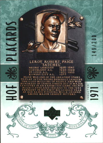 Photo of 2005 Upper Deck Hall of Fame Green #95 Satchel Paige PC