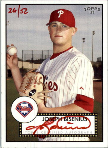 Photo of 2007 Topps 52 Signatures Red Ink #JRB Joseph Bisenius