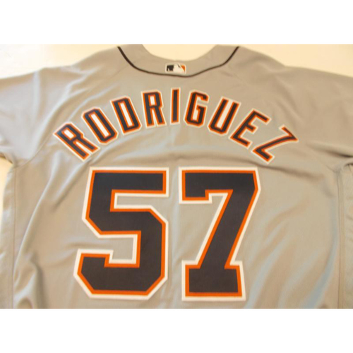 Photo of Game-Used Francisco Rodriguez Road Jersey: Road Opening Day 2016