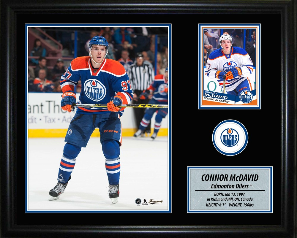 Connor McDavid - Framed Oilers Photo Card