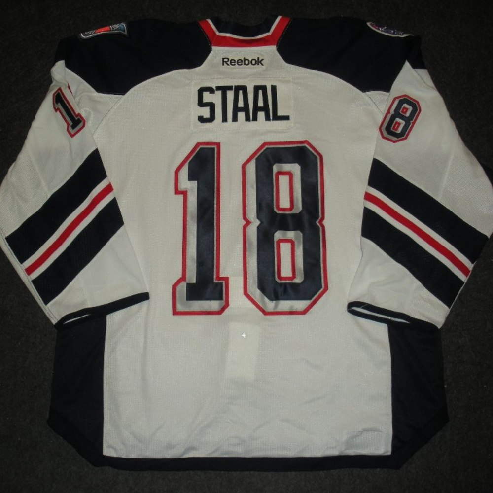 Mark Staal - 2014 Stadium Series - New York Rangers - White Game-Worn Jersey - Worn in First Period - 1/26/14 & 1/29/14
