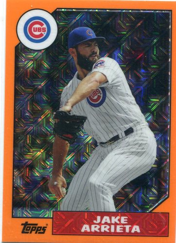 Photo of 2017 Topps '87 Topps Silver Pack Chrome Orange #87JAR Jake Arrieta 60/75