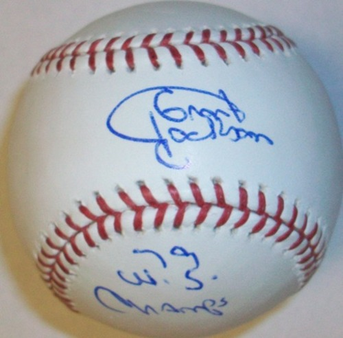 "Photo of Grant Jackson ""79 WS Champs"" Autographed Baseball"