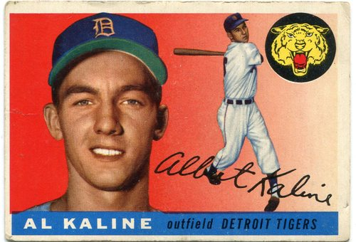 Photo of 1955 Topps #4 Al Kaline -- Hall of Famer