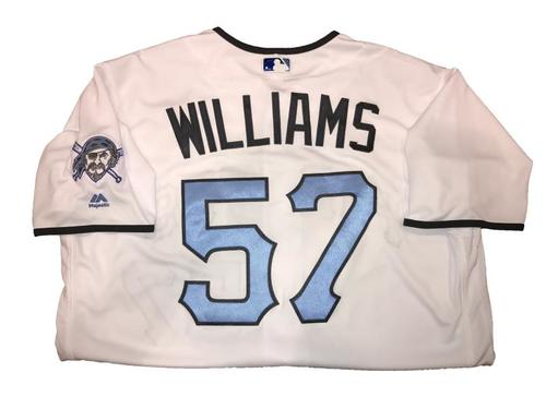 Photo of Trevor Williams Game-Used Father's Day Weekend Jersey - Worn on 6/17 & 6/18
