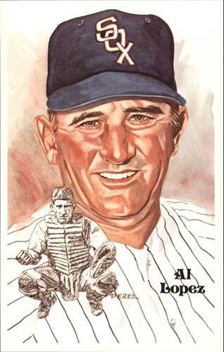 Photo of 1980-02 Perez-Steele Hall of Fame Postcards #161 Al Lopez -- Set #08689