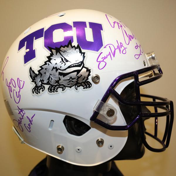 TCU Autographed Full-Size Football Helmet