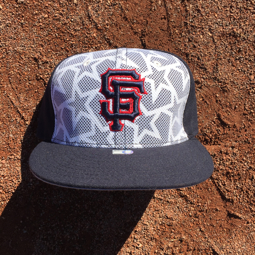 Photo of San Francisco Giants - 2016 Game-Used Cap - 4th of July - worn by #29 - Jeff Samardzija (Size: 7 3/8)
