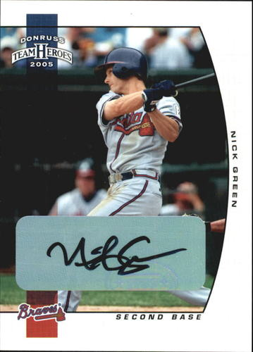 Photo of 2005 Donruss Team Heroes Autographs #38 Nick Green