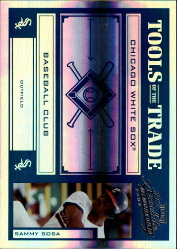 Photo of 2004 Absolute Memorabilia Tools of the Trade Blue Spectrum #134 Sammy Sosa Sox