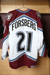Peter Forsberg Colorado Avalanche Game Worn Jersey