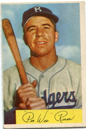 Photo of 1954 Bowman #58 Pee Wee Reese -- Dodgers Hall of Famer