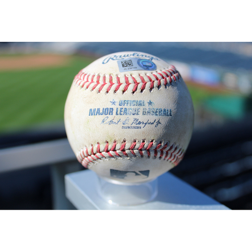 Photo of Game-Used Baseball: Charlie Blackmon 147th Career Double