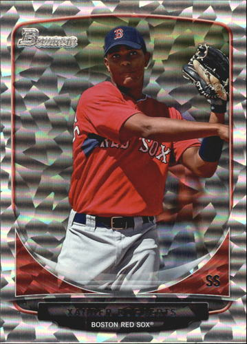 Photo of 2013 Bowman Draft Top Prospects Silver Ice #TP40 Xander Bogaerts -- Red Sox post-season