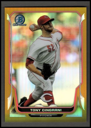 Photo of 2014 Bowman Chrome Gold Refractors #57 Tony Cingrani