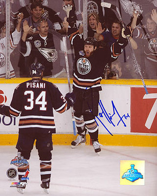 RAFFI TORRES Oilers 2004 Cup Finals SIGNED 8x10 Photo