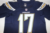 CHARGERS - PHILIP RIVERS SIGNED AUTHENTIC CHARGERS JERSEY - SIZE 44