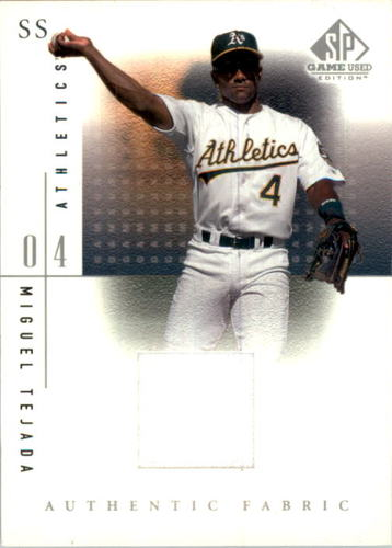 Photo of 2001 SP Game Used Edition Authentic Fabric #MT Miguel Tejada