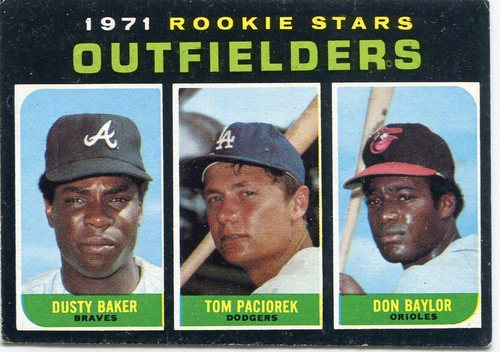 Photo of 1971 Topps #709 Rookie Stars/Dusty Baker RC/Don Baylor RC/Tom Paciorek RC SP
