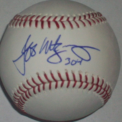 "Photo of Jeff Montgomery ""304"" Autographed Baseball"