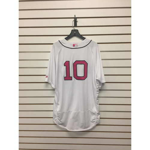 Photo of Gary Disarcina Game-Used 2017 Mother's Day Home Jersey